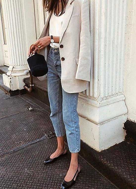 Casual Chic White Blazer Outfit Ideas-17