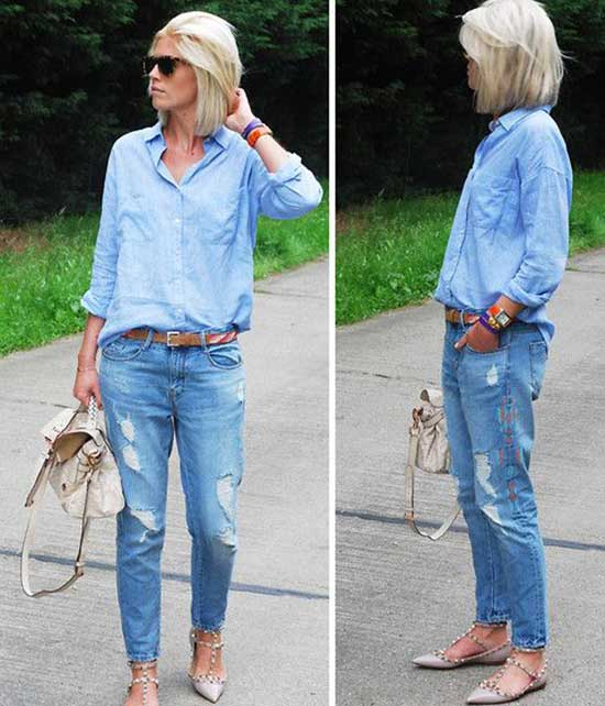 All Denim Outfit Ideas for Women Over 40-18