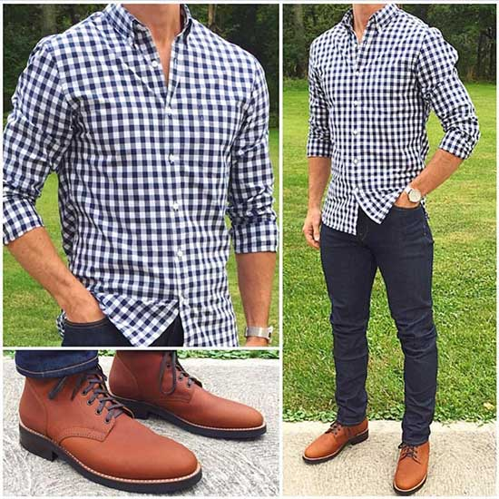 Casual Date Outfit with Brown Shoes Male-19