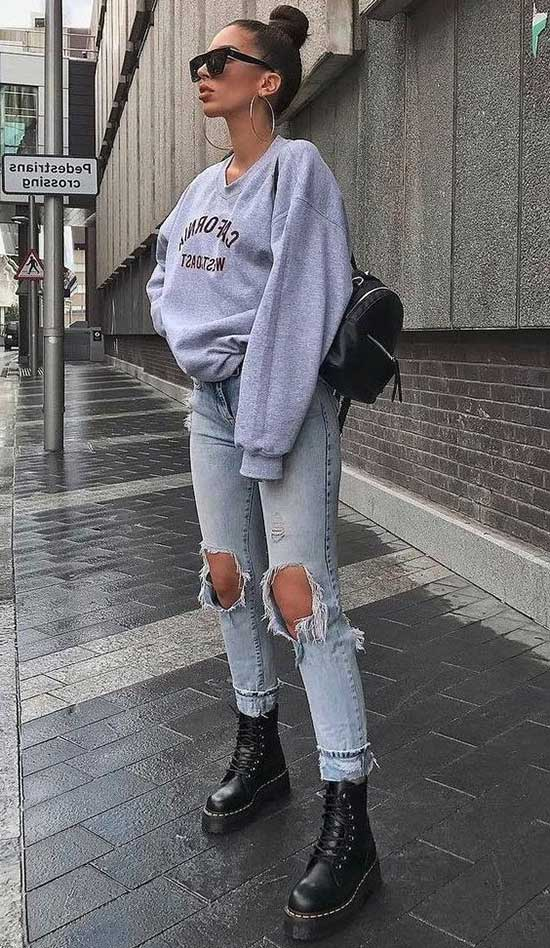 Casual Ripped Jeans Street Fashion-19