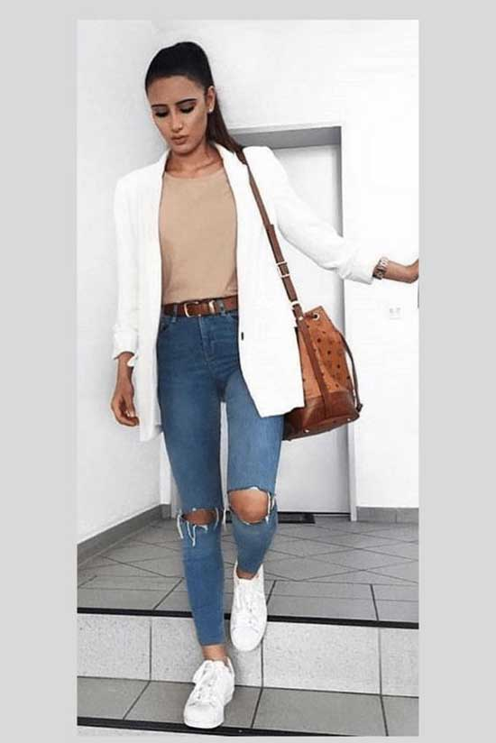 White Blazer office Outfit Ideas-19