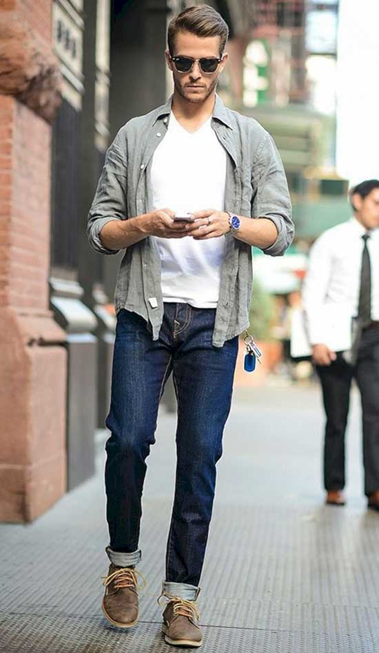 Casual Date Street Style Outfit Male-20