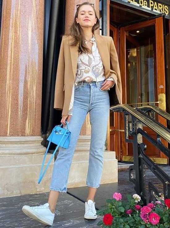 High Waist Jeans Parisian Street Style-20