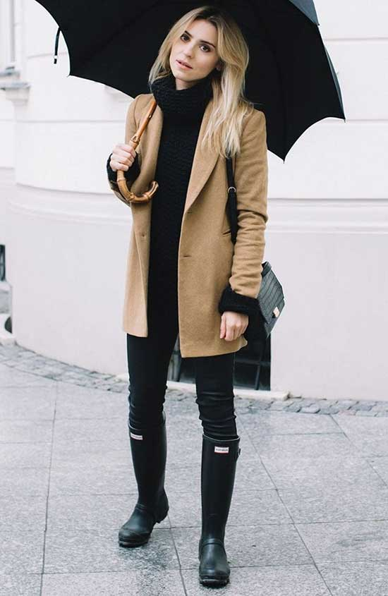 Rainy Day office Outfit-23