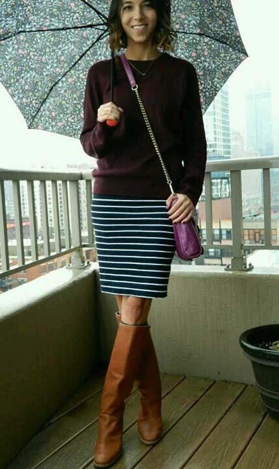 Rainy Day office Outfit-26