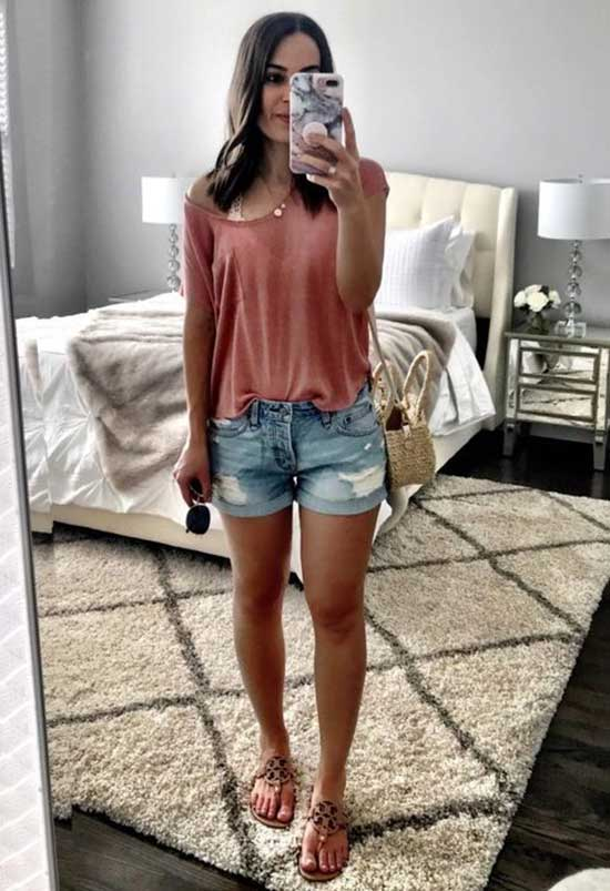 Cute Outfits with Jean Shorts-27