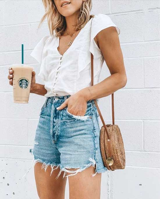 Cute Outfits with Jean Shorts-30