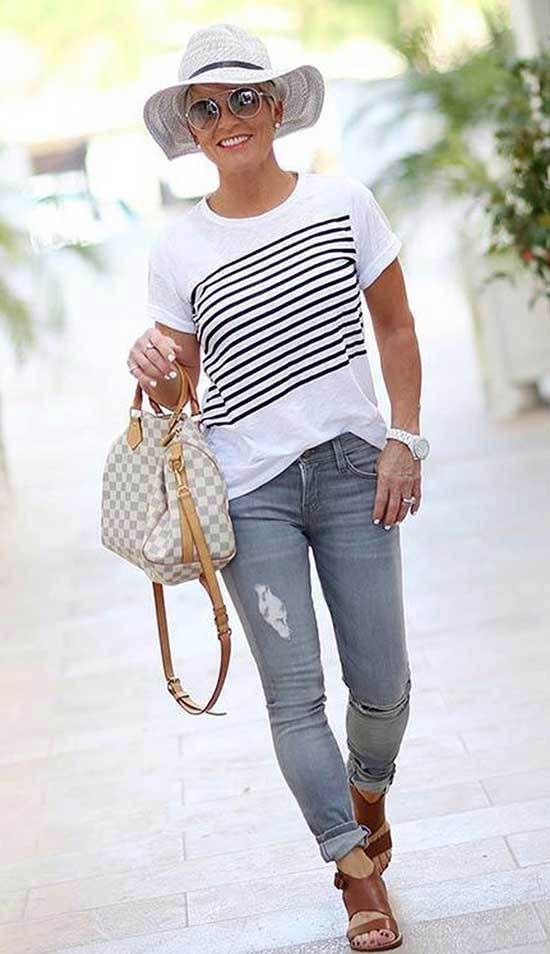 Casual Blue Jeans for Women Over 50-6