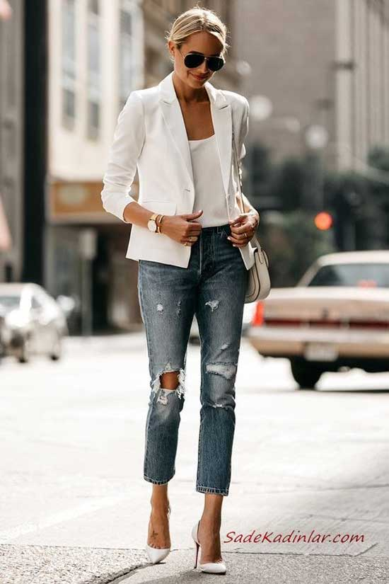 White Blazer Stiletto Outfit Ideas-6