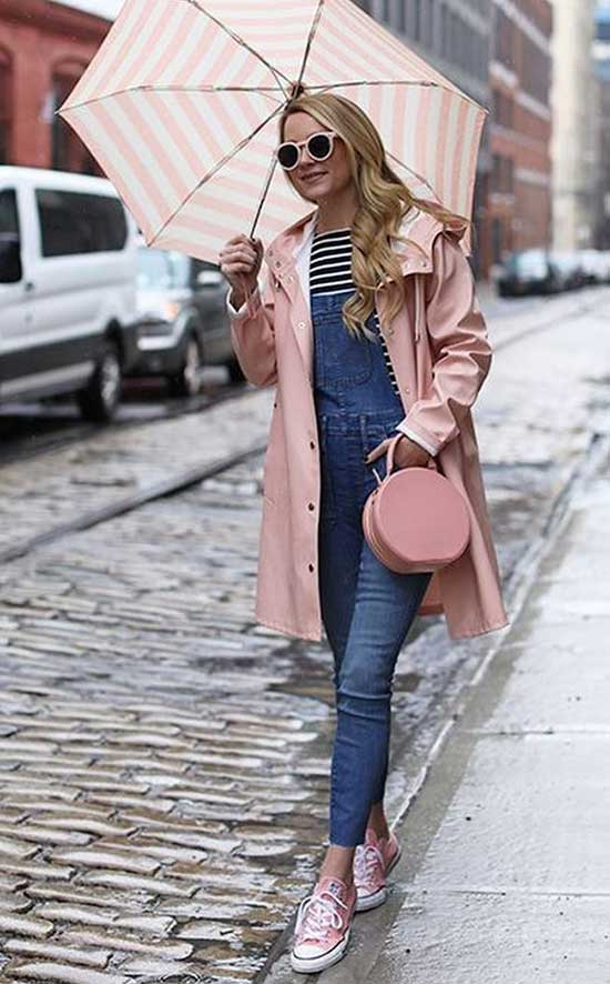 Rainy Day office Outfit Combination-7