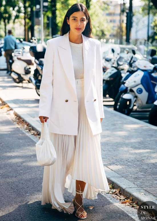 White Blazer Over-Sized Jacket Outfit Ideas-7