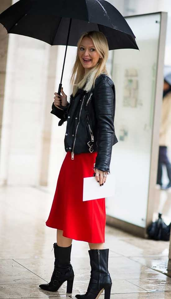 Classy Rainy Day office Outfit-8
