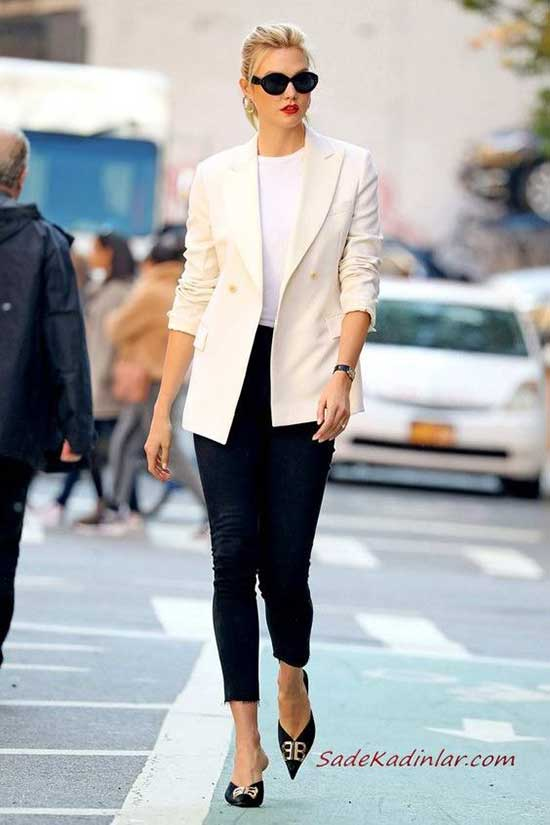 Karlie Kloss White Blazer Outfit Ideas-8
