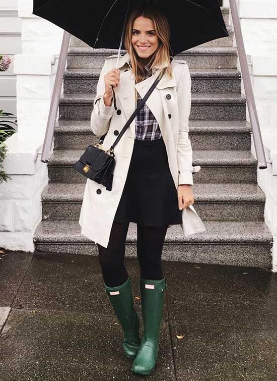 Cream Trenchcoat Rainy Day office Outfit-9