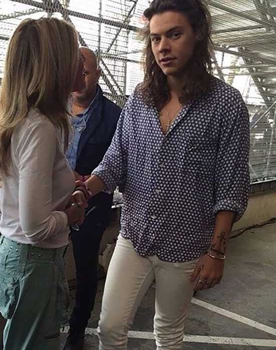 Harry Styles White Jeans Clothing-9