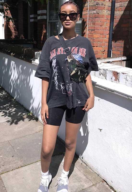 Bike Shorts Street Outfits-9