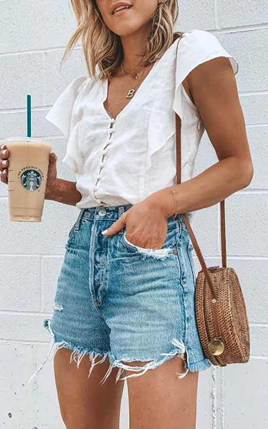 Jean Shorts Outfit