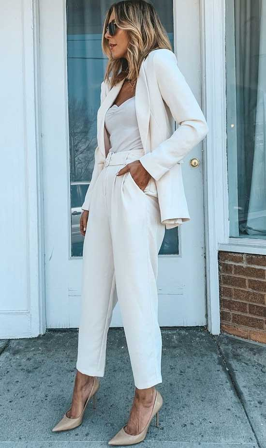 Women's White Blazer Outfit Ideas