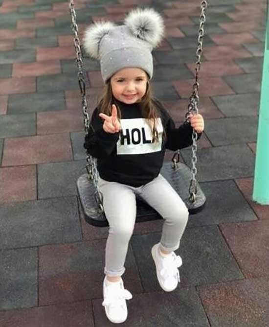 Cute Beanie Little Girl Clothes 2020-10