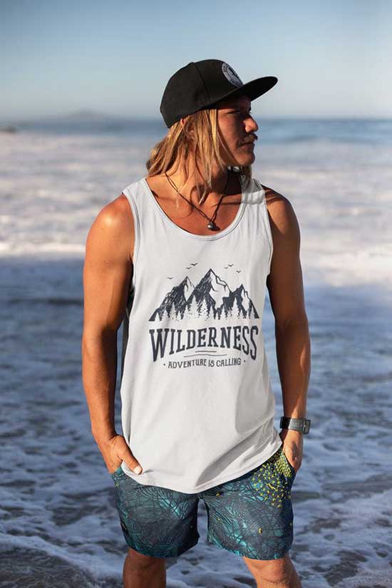 Tank Top Outfits Beach Look Men-10