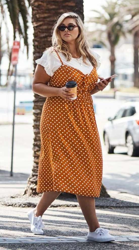 T-Shirt and Dress Plus Size Summer Outfit Ideas-11