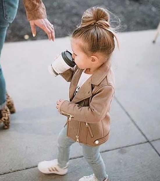 Cute Little Girl Stylish Jacket 2020-11