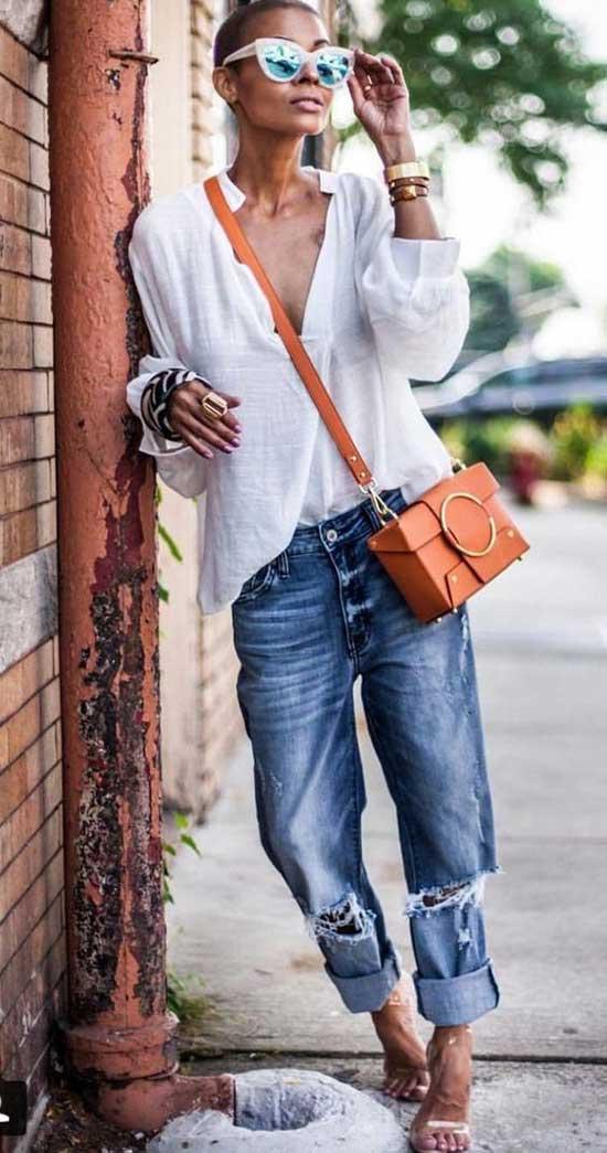 Boyfriend Jeans Summer Outfit Ideas-12