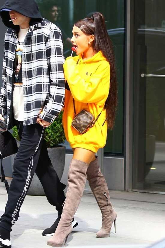 Ariana Grande Big Hoodie Outfits-13