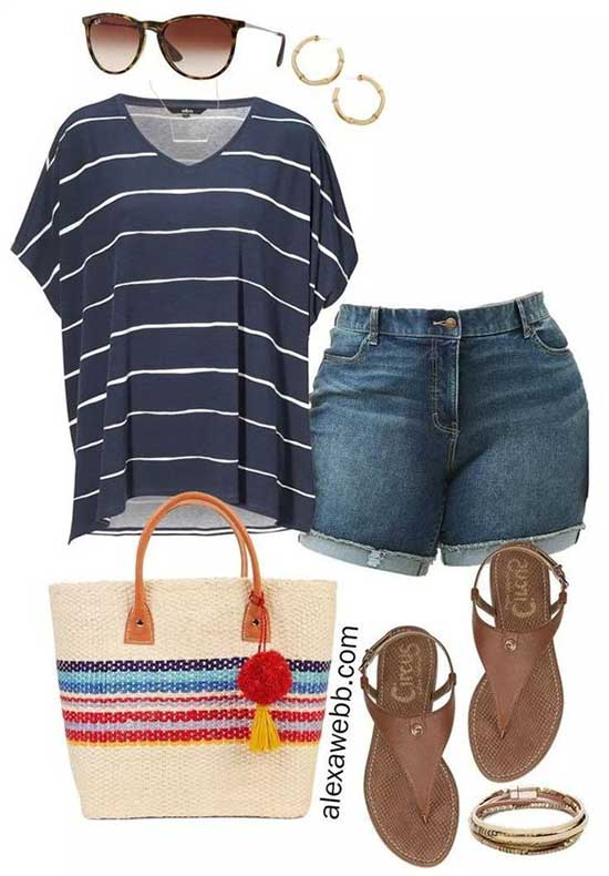 Casual Plus Size Summer Outfit Ideas-13