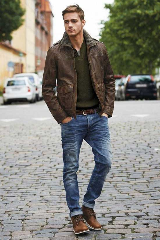 Men's Casual Outfit Ideas Jeans with Boots-14