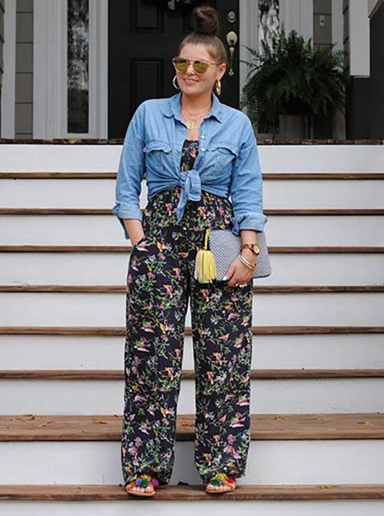 Plus Size Jumpsuit Summer Outfit Ideas-14