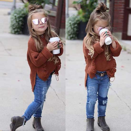 Cute Little Girl Autumn Clothes 2020-14
