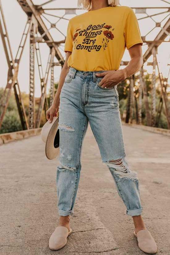 Boyfriend Jeans Outfit Ideas-18