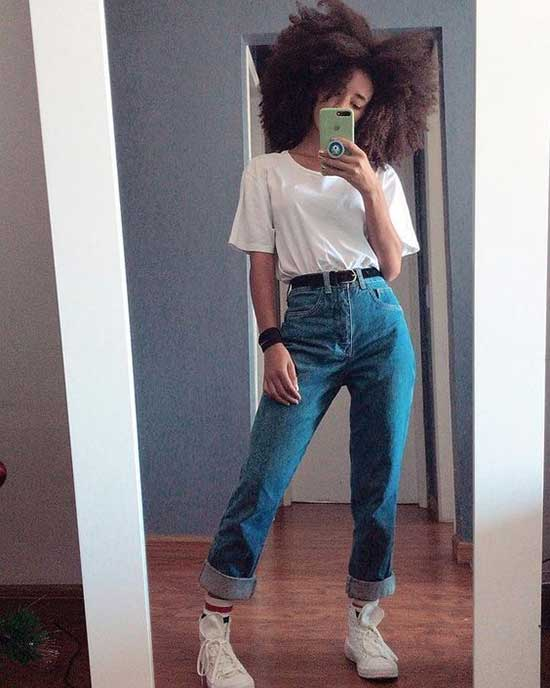 Boyfriend Jeans Outfit Ideas-21