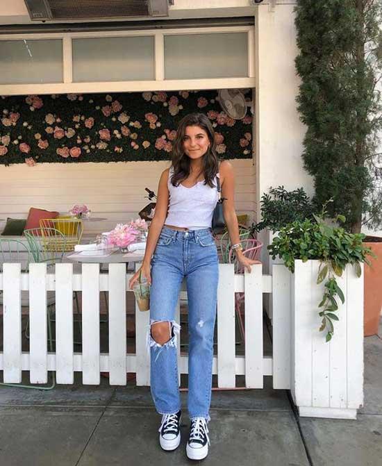 Boyfriend Jeans Outfit Ideas-24