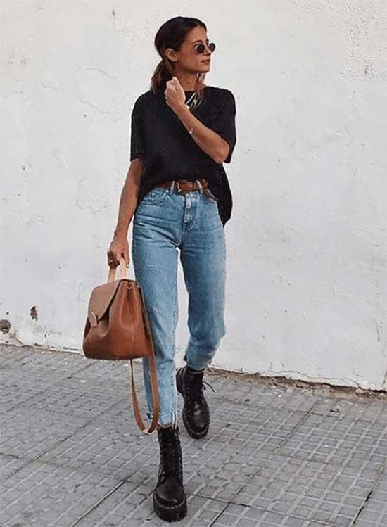Boyfriend Jeans Outfit Ideas-26