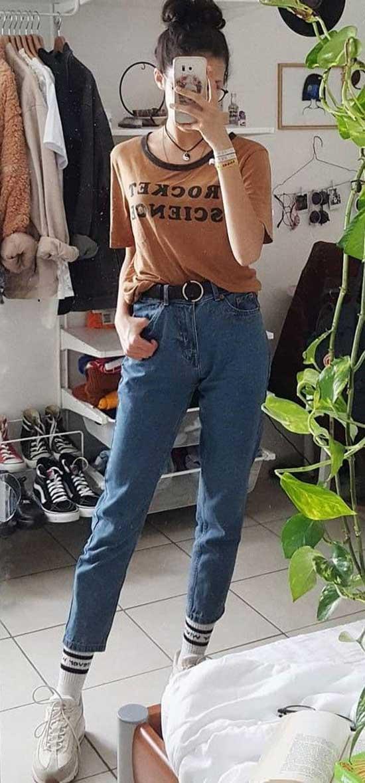 Boyfriend Jeans Outfit Ideas-27