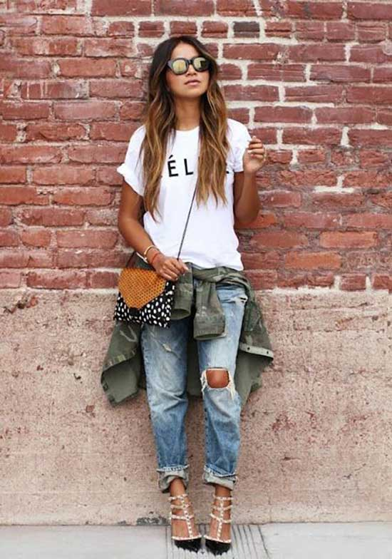 Boyfriend Jeans Outfit Ideas-28