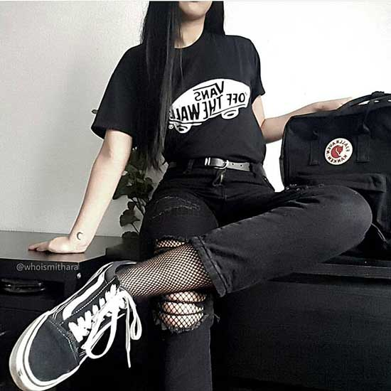 Black Soft Grunge Clothing-29