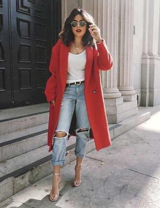 Boyfriend Jeans Long Coat Outfit Ideas-6