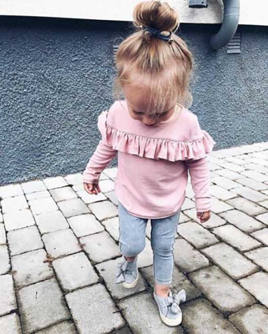 Ruffle Top Cute Little Girl Clothes 2020-6