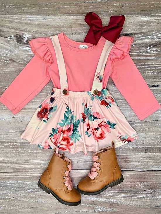 Cute Little Girl Overall Dress 2020-8