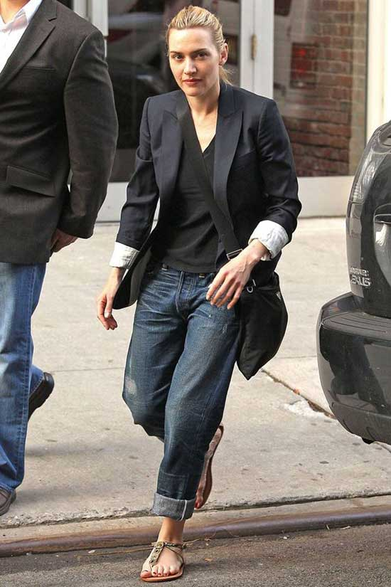 Boyfriend Jeans Blazer Jacket Outfit Ideas-9