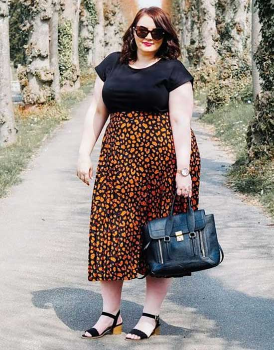 Plus Size Maxi Skirt Summer Outfit Ideas-9