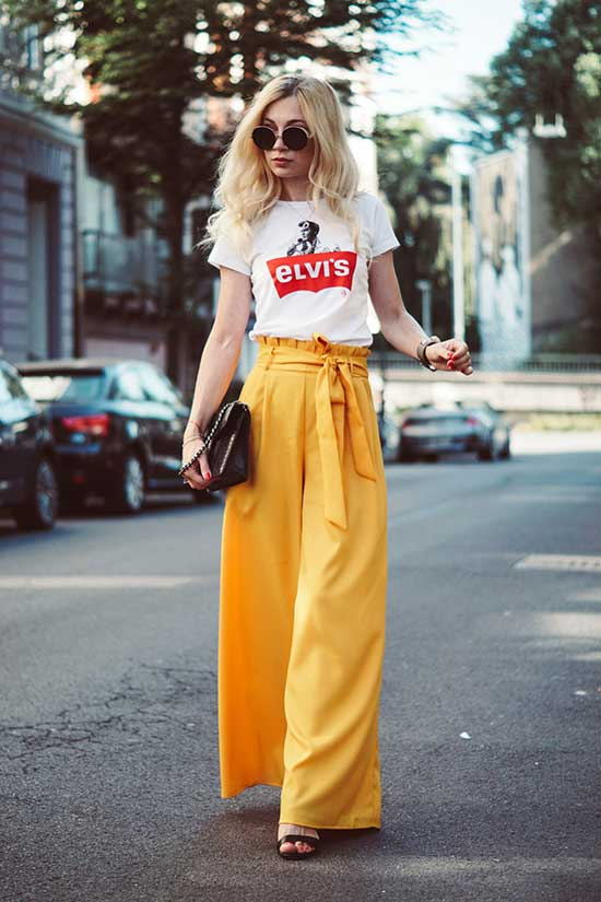 Stylish Outfits with Flowy Pants-14