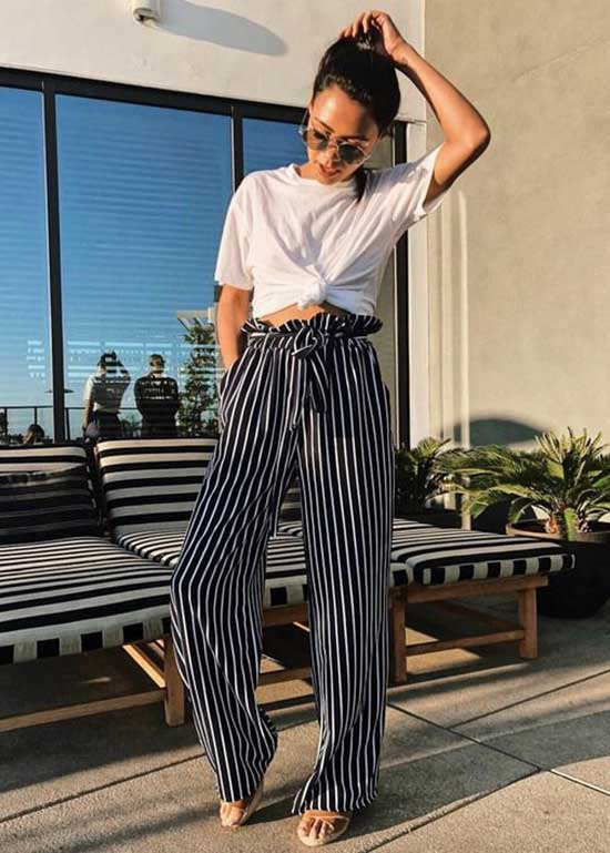 Work Outfits with Flowy Pants-15
