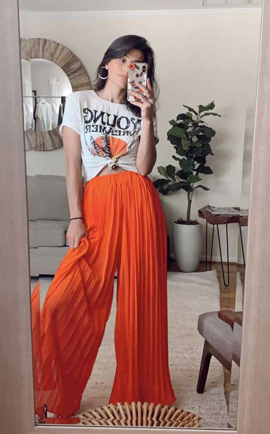 Outfits with Flowy Pants-21