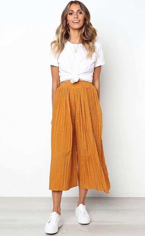 Outfits with Flowy Pants-22