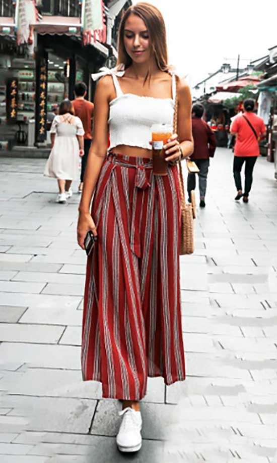 Outfits with Flowy Pants-24