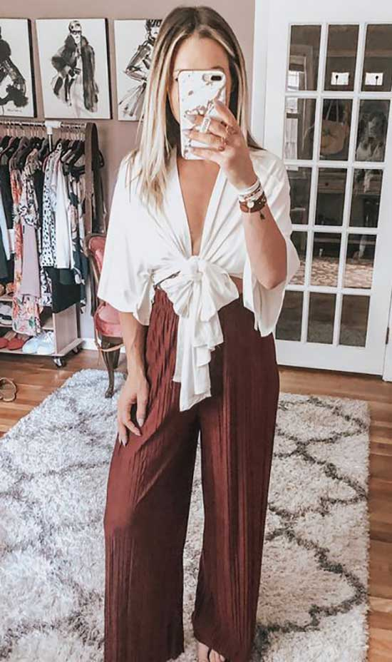 Outfits with Flowy Pants-25